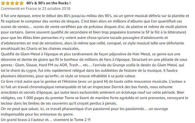 Avis L'ère metal Tome 1 : 1954-1988