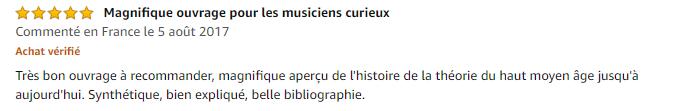 Avis Guide de la théorie de la musique - Claude Abromont