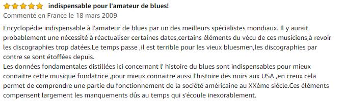 Avis La Grande encyclopédie du blues