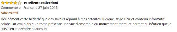 Avis La petite Bédéthèque des Savoirs - tome 4 - Le Heavy metal