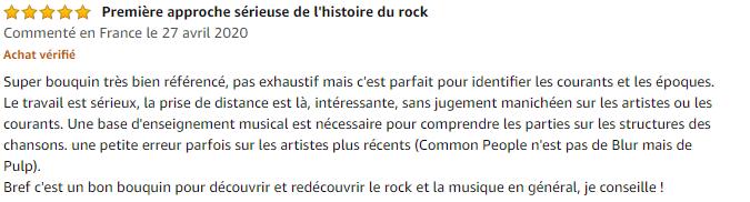 Avis Une histoire musicale du rock